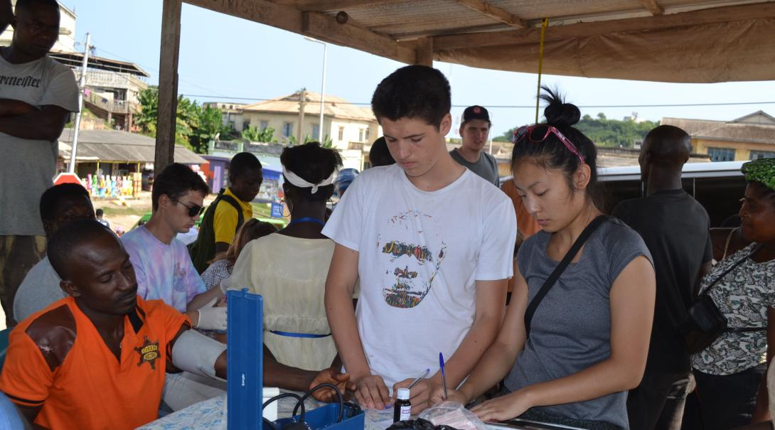 Some Public Health volunteers participate in awareness campaigns and medical outreaches while doing their internship with Projects Abroad in Ghana.
